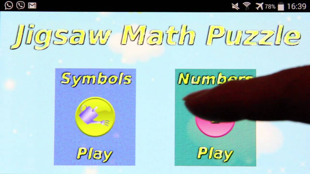 Jigsaw Math Puzzle Game - YouTube