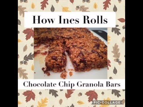 CHOCOLATE CHIP GRANOLA BARS   Easy Baking Tutorial   *How Ines Rolls*