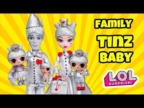 Tinz Family LOL Surprise! Cartoon with Custom Craft DIY Dolls for girls