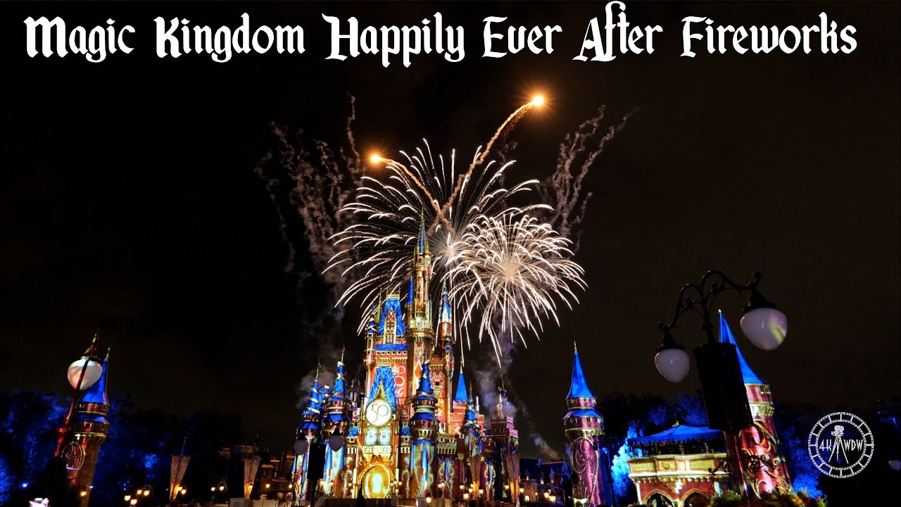 Happily Ever After Fireworks at Magic Kingdom FULL SHOW in 5K | Walt Disney World September 2021