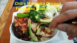Chili's Margarita Chicken Fresh Mex Bowl Airport Food Review
