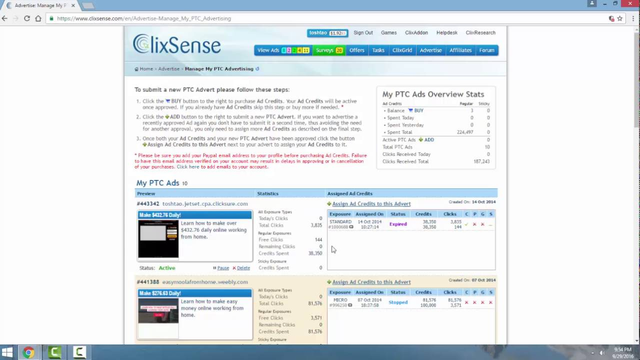 Make Money Online - Earn $100/Day with Clixsense - YouTube