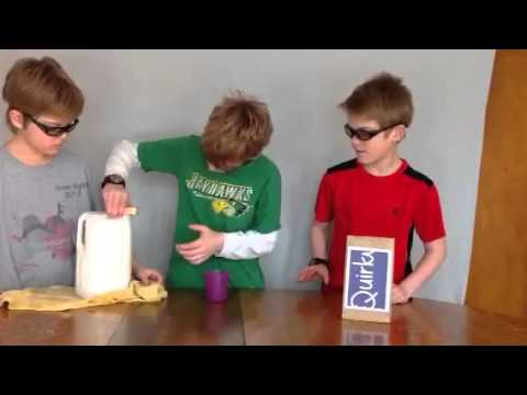 pouring from a square milk jug