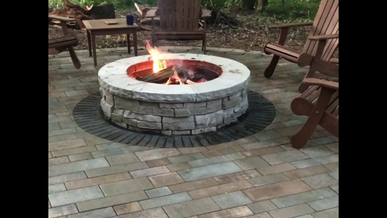 Unilock Rivercrest Fire Pit Kit in Action - Unilock Rivercrest Fire Pit Kit In Action - YouTube