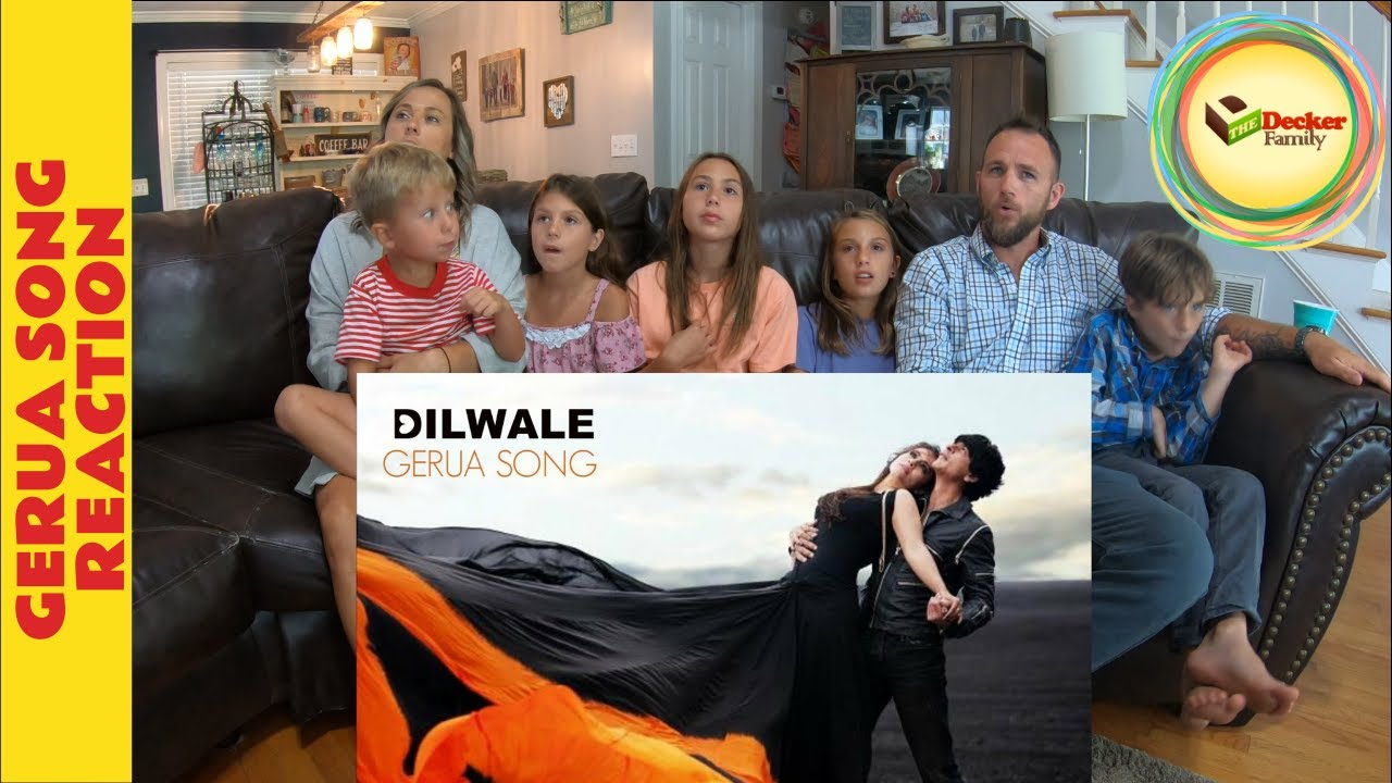 Gerua Song Reaction - The Decker Family Reaction