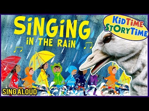 Children's Book Based On Song Singing In The Rain   Song For Kids   SING ALONG