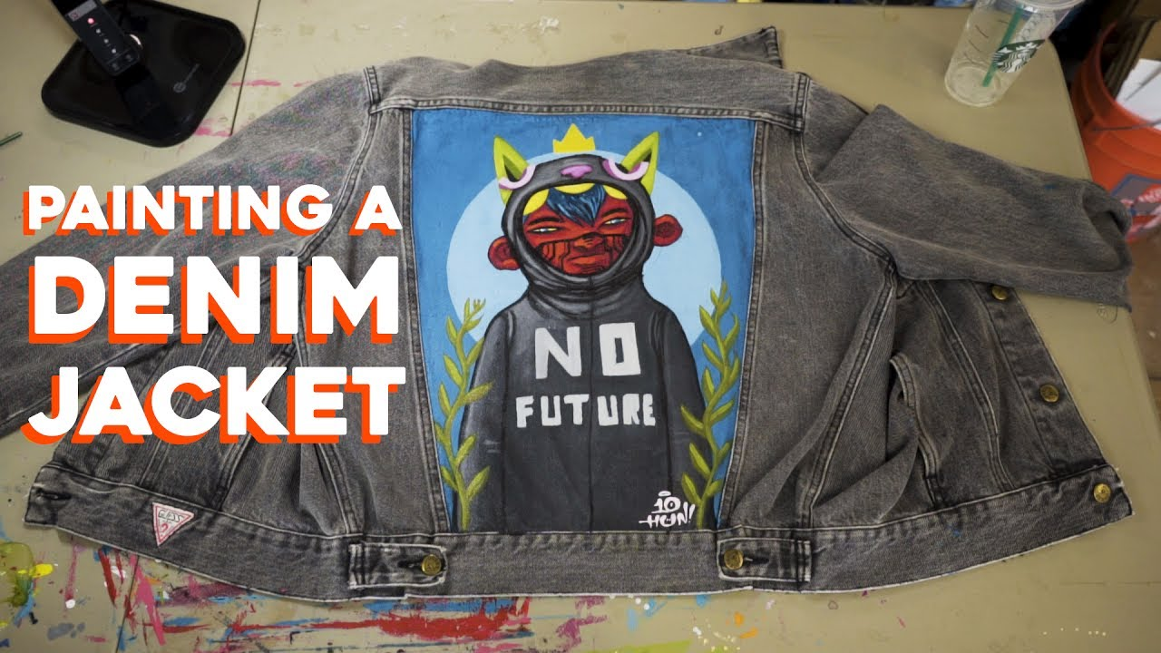 Custom Painted Denim Jacket Ten Hundred