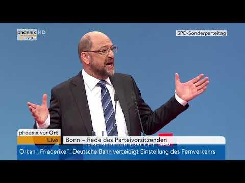 Rede von Martin Schulz beim SPD-Bundesparteitag am 21.01.2018