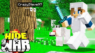 Minecraft Player VS 10 Hunters trying to find me.. (Hide or WAR #6)