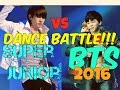 Super Junior Vs Bts Dance Battle!!! 2016   Batalla De Baile!!! video