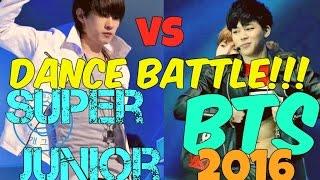Download Video Super Junior vs BTS Dance Battle!!! 2016 / Batalla de Baile!!! MP3 3GP MP4