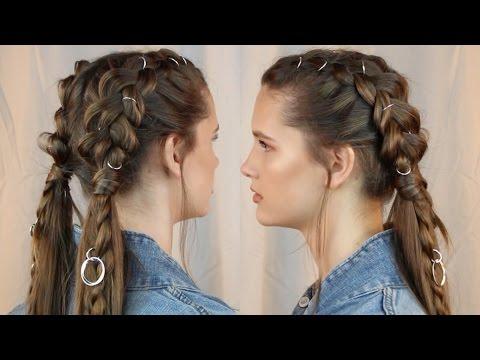 Braided Hair Rings Tutorial Lilmissmegsmakeup