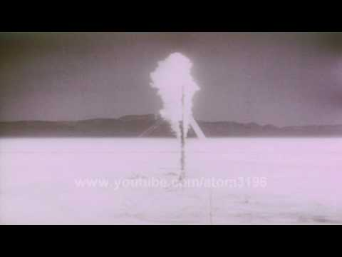 Thermal nuclear effect and shock wave  atomic bomb explosion stock footage