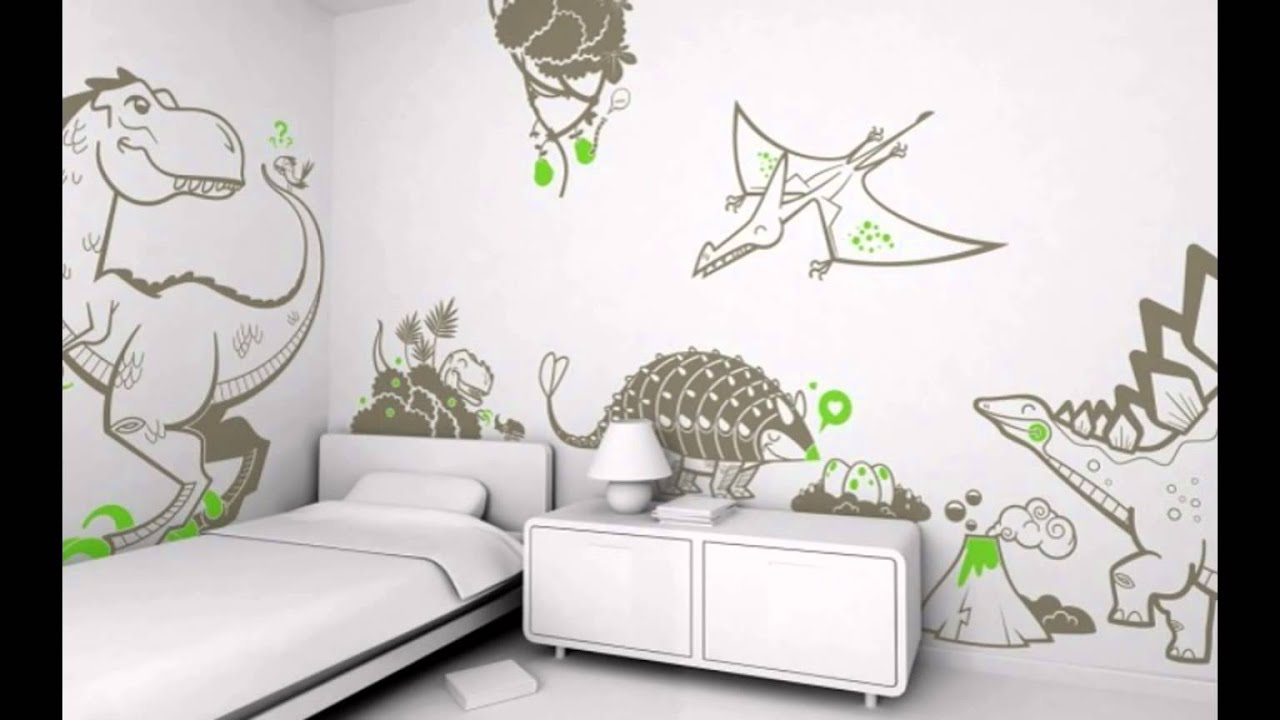 Boys Bedroom Wall Decals Design With Dinosaur Theme  Modern Kids Room Design  Ideas