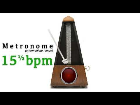 Metronome 15.5 bpm 🎼 ᴵᴺᵀᴱᴿᴹᴱᴰᴵᴬᵀᴱ ᵀᴱᴹᴾᴼ (fifteen and a half beat per minute)