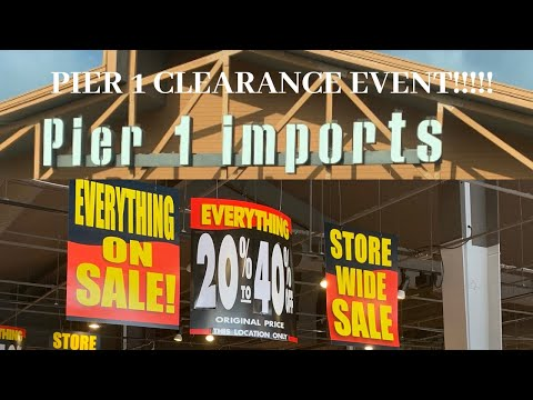 PIER 1 IMPORTS CLEARANCE EVENT 2020 RUN!!!!!!