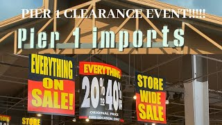 Gambar cover PIER 1 IMPORTS CLEARANCE EVENT 2020 RUN!!!!!!