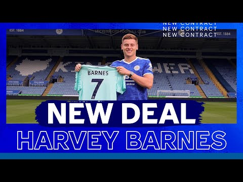 Harvey Barnes signs a new deal with Leicester City!