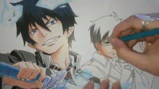Speed Drawing - Okumura Rin and Okumura Yukio (Ao no Exorcist)