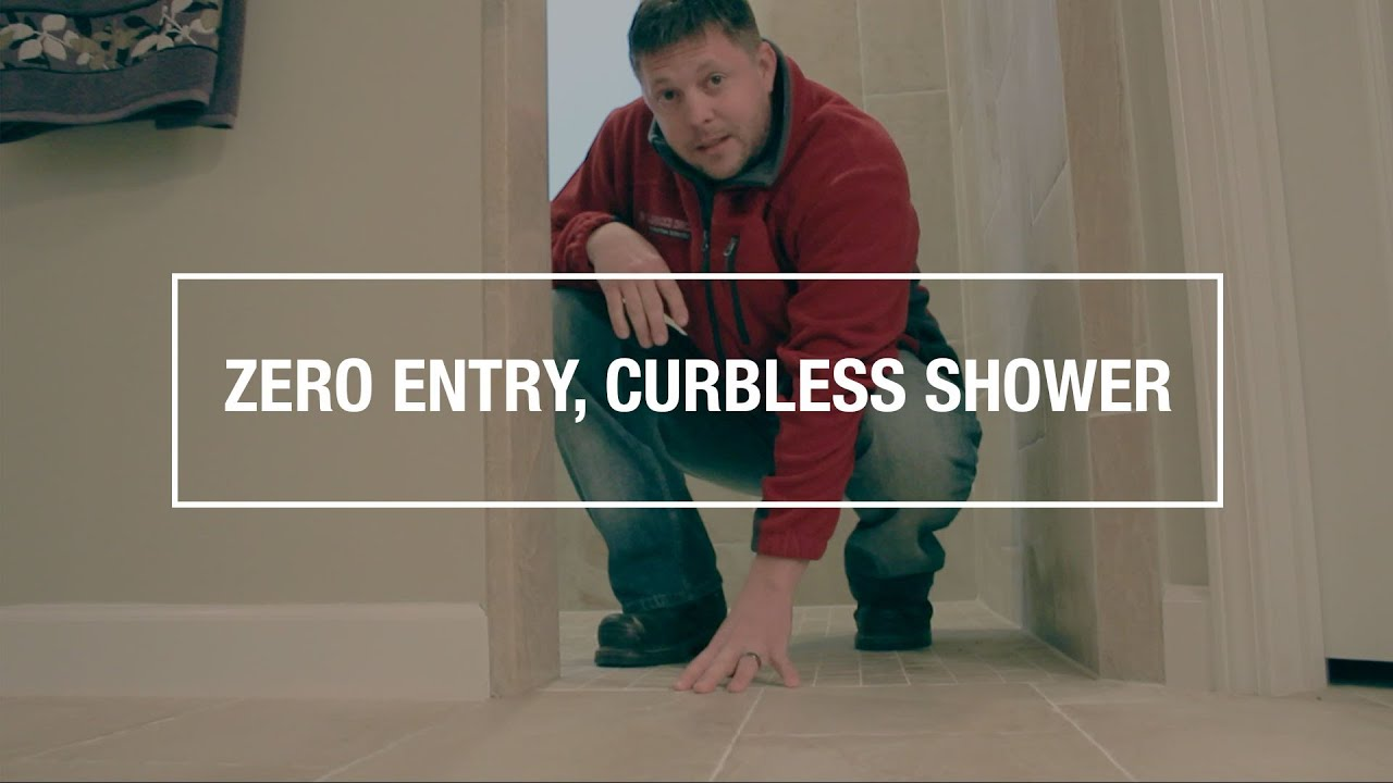 Zero Entry Curbless Shower Bathroom Remodel Destin Fl Youtube