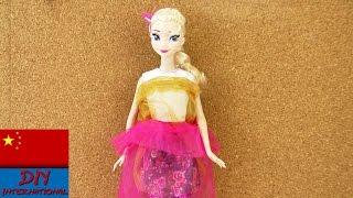 DIY 手工 制作 可爱 迪士尼 冰雪奇缘 公主 女王 艾莎 公主裙 裙子 蓬蓬裙 连衣裙 晚礼服 纱裙 双层 自制 展示