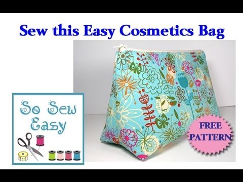 Sew An Easy Cosmetics Bag Youtube
