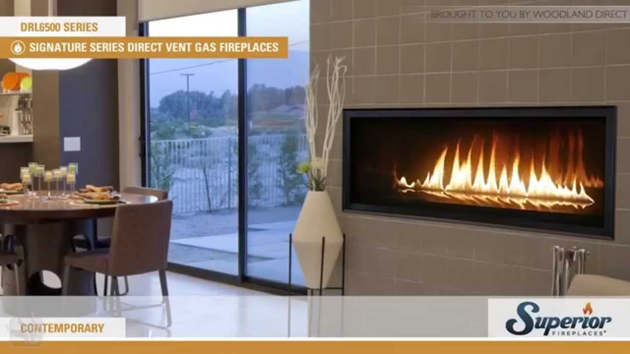 superior drl6500 direct vent linear gas fireplace youtube