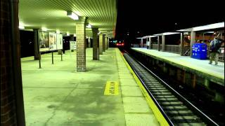 MNCR Harlem Line: Train Action at White Plains (PM Rush @ Night)