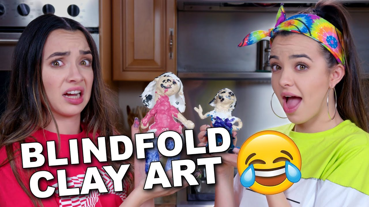 7e09935f8 We Made CLAY ART SCULPTURES of Each Other BLINDFOLDED so funny - Merrell  Twins