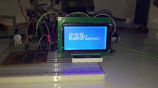 Arduino - SparkFun Graphic LCD Serial Backpack Demo & DS3231 RTC Module
