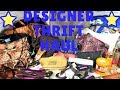 Huge Designer Thrift Haul Handbags & Shoes| Kate Spade Coach & wallets