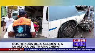 ¡Tres heridos! al colisionar moto con un rapidito en Comayagüela