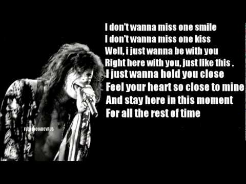 I Dont Wanna Miss A Thing Armageddon  Aerosmith LyricsLetra Increible !