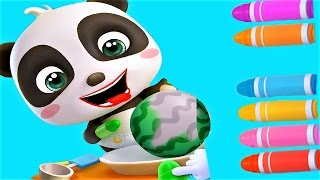 Baby Learn Colors Fruits & Play With Baby Panda - Fun Baby Games & Video