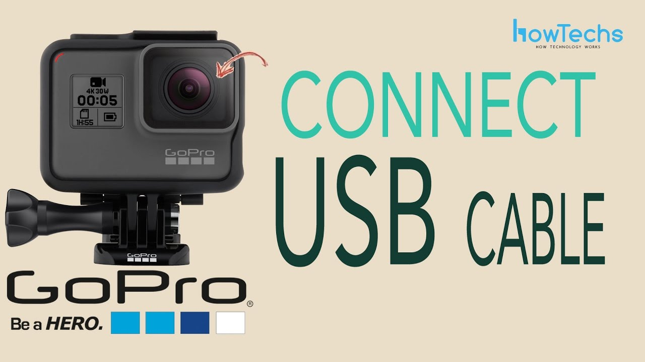 GoPro Hero5 Black - How to Charge by USB / Connect USB Data Cable