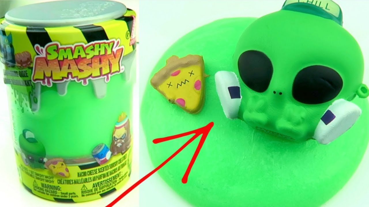 Will it Slime? Making Slime with Smashy Mashy Green Liquid!