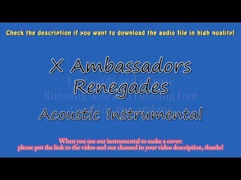 X Ambassadors - Renegades (Piano/Cajon Instrumental) Karaoke