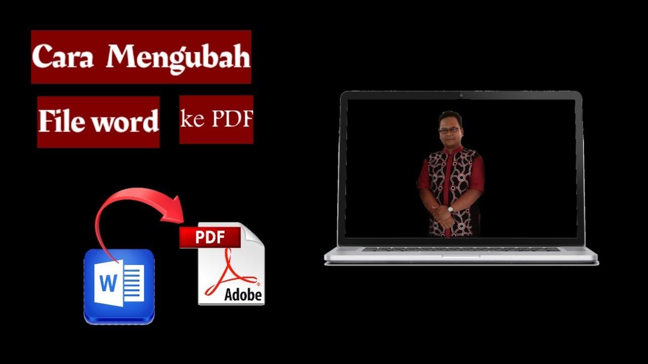 Cara Mengubah File Word ke PDF - YouTube
