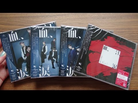 Unboxing BTS Bangtan Boys 防彈少年團 7th Japanese Single Blood Sweat & Tears All 4 Editions