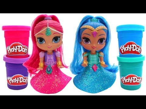 Thumbnail: Play Doh Sparkle Shimmer & Shine Dresses Learn Colors RL
