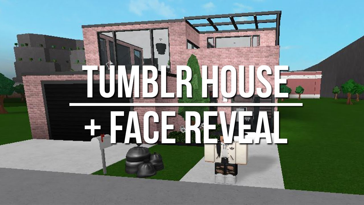 Roblox welcome to bloxburg tumblr house face reveal for Kitchen designs bloxburg