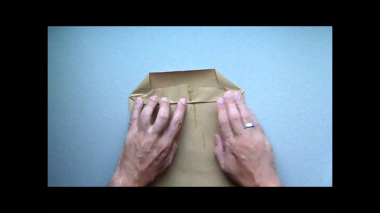 Como hacer bolsa de papel kraft facilmente youtube - Hacer bolsas de papel en casa ...