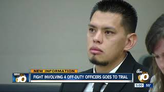 Fight involving four off-duty officers goes to trial