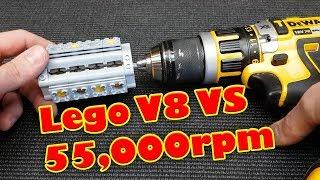 Lego BOOM!!! Lego V8 Engine VS 55,000 RPM Catastrophic Failure Explodes!! Epic Sound