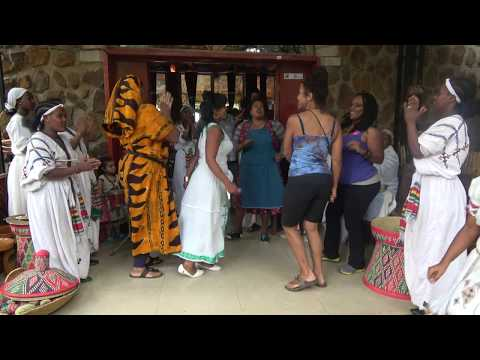 Traditional Dancing at the Four Sisters Restaurant - Ethiopia May 2017 thumbnail