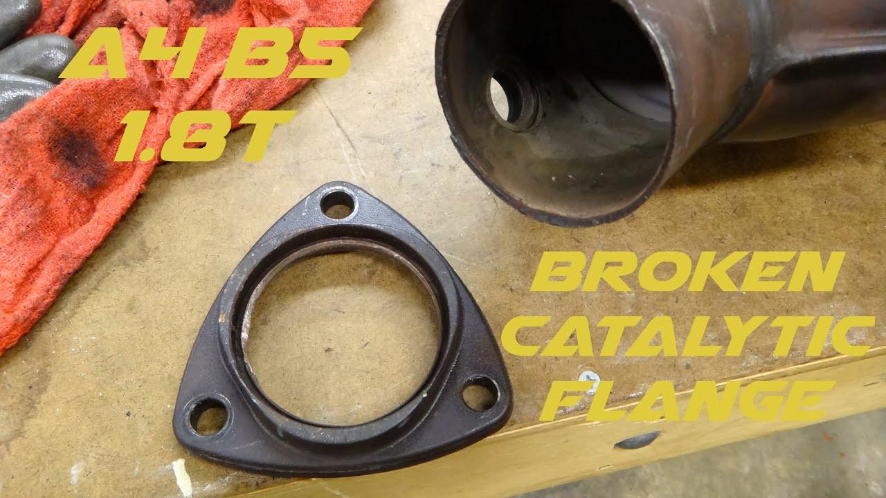 A b t broken catalytic flange open turbo exhaust