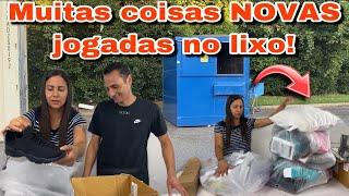 MUITAS COISAS JOGADAS NO LIXO DOS ESTADOS UNIDOS!🇺🇸🇺🇸🇺🇸 dumpster-basura
