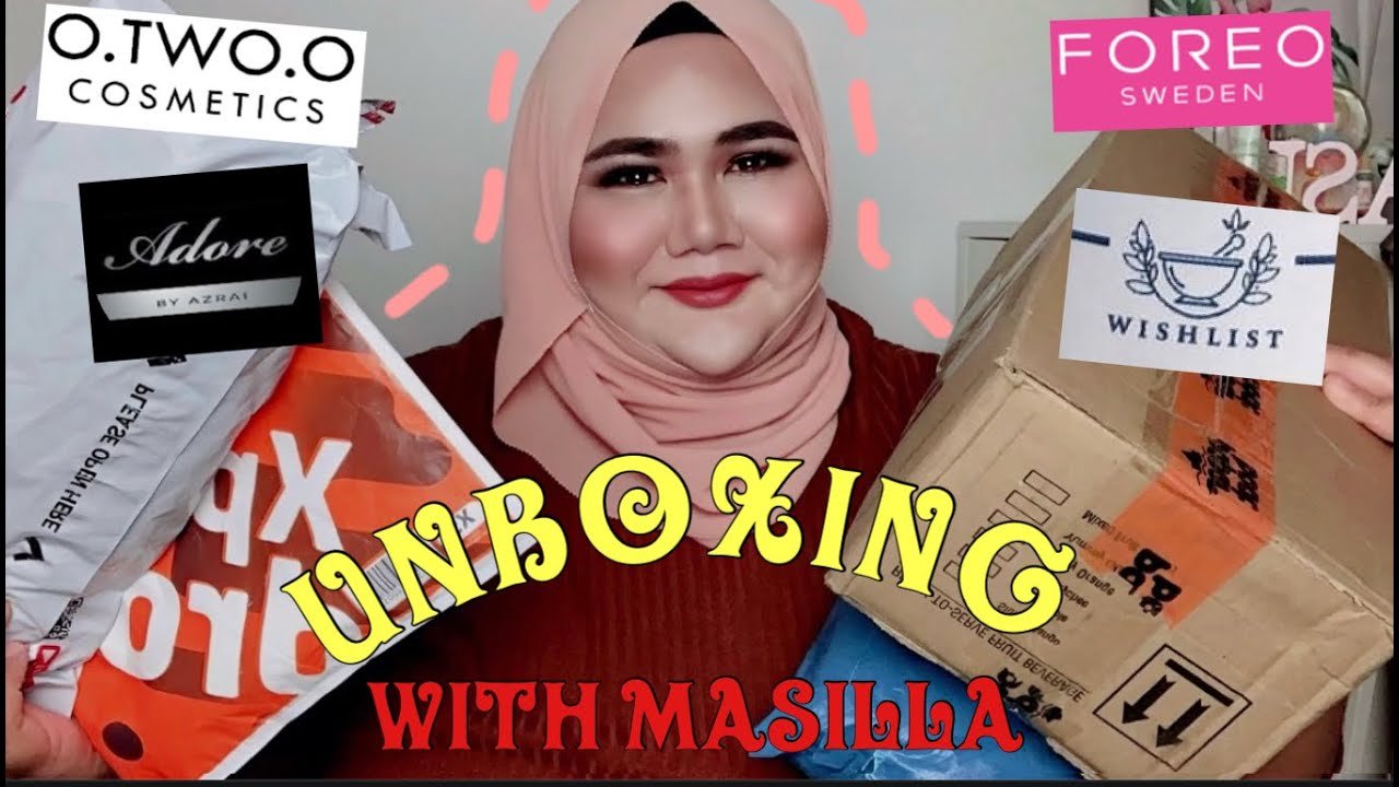 UNBOXING SHOPEE.....O.TWO.O/FOREO/Organic By Wishlist/Adore By Azrai | MI