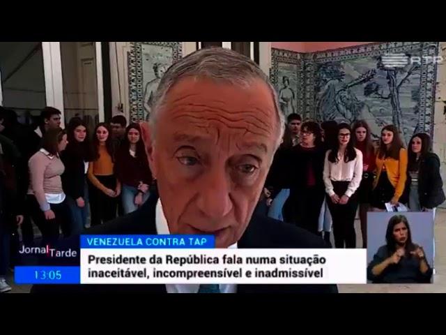 Presidente de Portugal  «La suspensión de TAP es injusta e inaceptable»