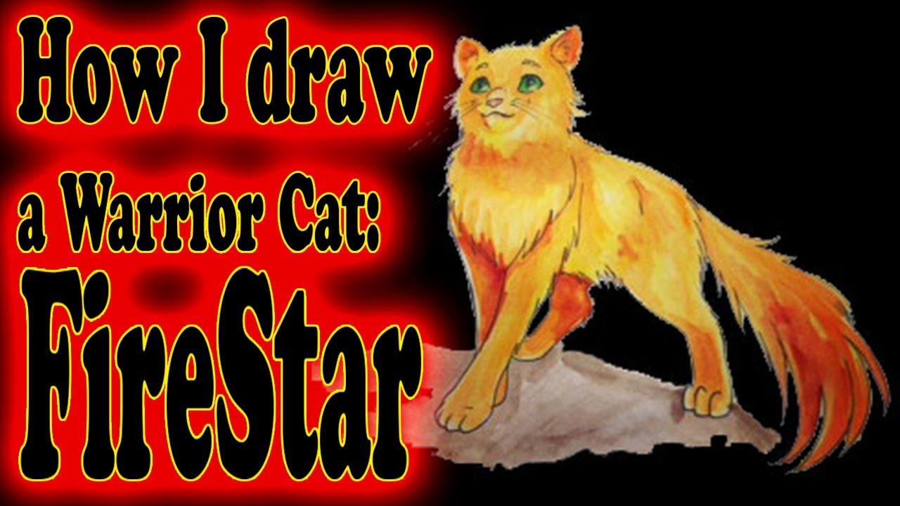 How I draw a Warrior Cat - YouTube